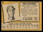 1971 O-Pee-Chee #702  Milt Ramirez  Back Thumbnail