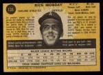 1971 O-Pee-Chee #135  Rick Monday  Back Thumbnail