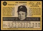 1971 O-Pee-Chee #166  Joe Hoerner  Back Thumbnail