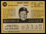 1971 O-Pee-Chee #146  Ralph Houk  Back Thumbnail