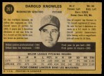 1971 O-Pee-Chee #261  Darold Knowles  Back Thumbnail