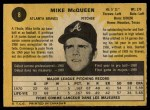 1971 O-Pee-Chee #8  Mike McQueen  Back Thumbnail