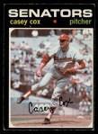 1971 O-Pee-Chee #82  Casey Cox  Front Thumbnail