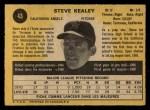 1971 O-Pee-Chee #43  Steve Kealey  Back Thumbnail