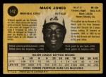 1971 O-Pee-Chee #142  Mack Jones  Back Thumbnail