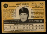 1971 O-Pee-Chee #113  Jerry Crider  Back Thumbnail