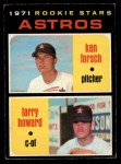 1971 O-Pee-Chee #102   -  Larry Howard / Ken Forsch Astros Rookies Front Thumbnail