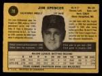 1971 O-Pee-Chee #78  Jim Spencer  Back Thumbnail
