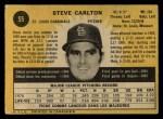 1971 O-Pee-Chee #55  Steve Carlton  Back Thumbnail