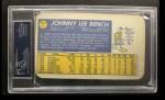1970 Topps Super #8  Johnny Bench  Back Thumbnail