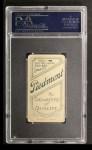 1909 T206 POR Admiral Schlei  Back Thumbnail