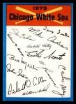 1973 Topps Blue Checklist   White Sox Front Thumbnail