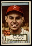 1952 Topps #213  Vernal 'Nippy' Jones  Front Thumbnail