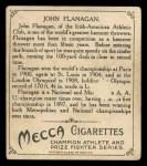 1910 T218 Champions #13 FUL John Flanagan  Back Thumbnail