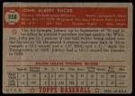 1952 Topps #358  John Kucab  Back Thumbnail