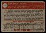1952 Topps #352  Karl Drews  Back Thumbnail