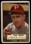 1952 Topps #352  Karl Drews  Front Thumbnail