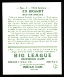 1934 Goudey Reprint #5  Ed Brandt  Back Thumbnail