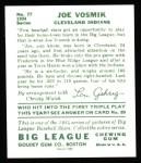 1934 Goudey Reprint #77  Joe Vosmik  Back Thumbnail
