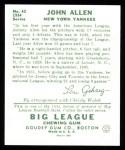 1934 Goudey Reprint #42  John Allen  Back Thumbnail