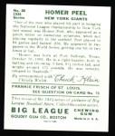 1934 Goudey Reprint #88  Homer Peel  Back Thumbnail