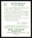 1934 Goudey Reprint #45  Oscar Melillo  Back Thumbnail