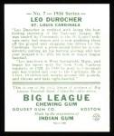 1934 Goudey Reprint #7  Leo Durocher  Back Thumbnail