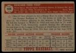 1952 Topps #123  Eddie Yost  Back Thumbnail