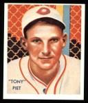 1934 Diamond Stars Reprint #72  Tony Piet  Front Thumbnail