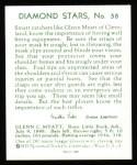 1934 Diamond Stars Reprint #58  Glenn Myatt  Back Thumbnail