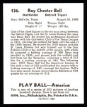 1939 Play Ball Reprint #136  Roy Bell  Back Thumbnail