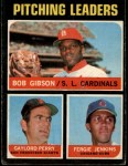 1971 O-Pee-Chee #70   -  Bob Gibson / Fergie Jenkins / Gaylord Perry NL Pitching Leaders Front Thumbnail