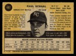 1971 O-Pee-Chee #487  Paul Schaal  Back Thumbnail