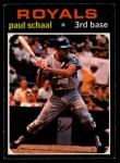 1971 O-Pee-Chee #487  Paul Schaal  Front Thumbnail