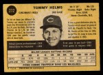 1971 O-Pee-Chee #272  Tommy Helms  Back Thumbnail