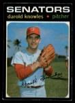 1971 O-Pee-Chee #261  Darold Knowles  Front Thumbnail