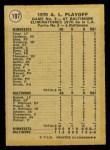 1971 O-Pee-Chee #197   -  Jim Palmer 1970 AL Playoffs - Game 3 - Palmer Mows 'Em Down Back Thumbnail