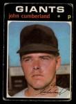 1971 O-Pee-Chee #108  John Cumberland  Front Thumbnail