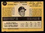 1971 O-Pee-Chee #279  Lefty Phillips  Back Thumbnail