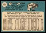 1965 Topps #411  Roger Craig  Back Thumbnail