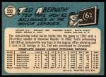 1965 Topps #332  Ted Abernathy  Back Thumbnail