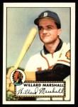 1952 Topps REPRINT #96  Willard Marshall  Front Thumbnail
