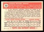 1952 Topps REPRINT #265  Chuck Diering  Back Thumbnail