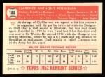 1952 Topps REPRINT #188  Clarence Podbielan  Back Thumbnail