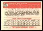 1952 Topps REPRINT #346  George Spencer  Back Thumbnail