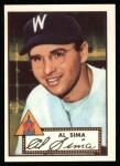 1952 Topps REPRINT #93  Al Sima  Front Thumbnail