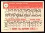 1952 Topps REPRINT #163  Stan Rojek  Back Thumbnail
