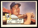 1952 Topps REPRINT #129  Johnny Mize  Front Thumbnail