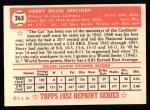 1952 Topps REPRINT #263  Harry Brecheen  Back Thumbnail