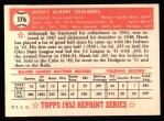 1952 Topps REPRINT #176  Hank Edwards  Back Thumbnail